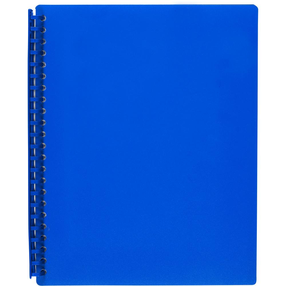 MARBIG REFILLABLE DISPLAY BOOK A4 20 Pocket Blue