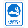 DURUS HEALTH AND SAFETY SIGN Wall Sign Use Hand Sanitiser Blue and White