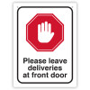 DURUS HEALTH AND SAFETY SIGN Wall Sign Home Deliveries Black and Red