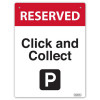DURUS HEALTH AND SAFETY SIGN Wall Sign Click And Collect Black and Red