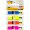 Post-It 683-4ABX Flag Translucent 12x45mm Blue Yellow Orange Pink Pack of 140