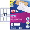 AVERY L7157 MAILING LABELS Laser 33/Sht 64x24.3mm Address