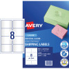 AVERY L7565 CLEAR LASER LABELS Quick Peel  8/Sht 99.1x67.7mm