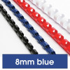 REXEL BINDING COMB 8mm 21Loop 45Sht Cap Blue