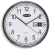 CARVEN WALL CLOCK 285mm Silver Rim W/Date