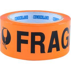 CUMBERLAND WARNING TAPE 48Mm X 66M Fragile Orange Black