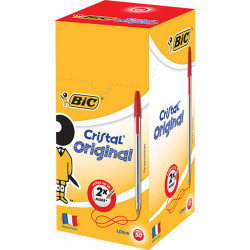 BIC CRISTAL BALLPEN Red Box of 50
