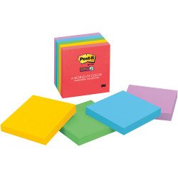 POST-IT 654-5SSAN NOTES Super Sticky Neon 76x76mm