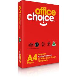 OFFICE CHOICE COPY PAPER Premium A4 80gsm