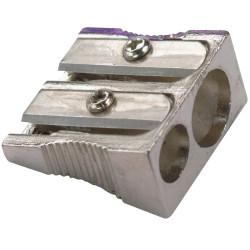 MARBIG PENCIL SHARPENER 2 Hole Metal Silver