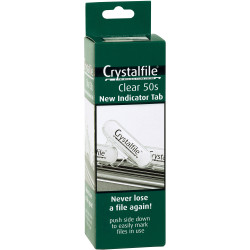 CRYSTALFILE INDICATOR TABS New Style Clear