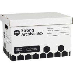 MARBIG STRONG ARCHIVE BOX W305xL400xH260  Blk/White