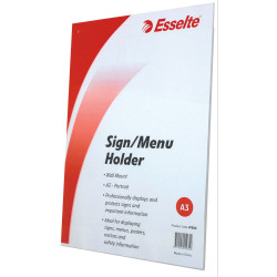 ESSELTE SIGN/MENU HOLDER A3 Wall Mount Portrait
