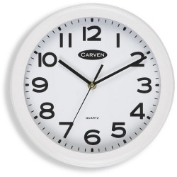 CARVEN WALL CLOCK 250mm White Frame