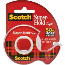 SCOTCH 198 TAPE DISPENSER Super Hold Clear 19mm X 16.5m