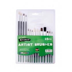 M.M. STUDIO ARTIST BRUSHES 15PCE