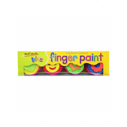 M.M. KIDS COLOUR FINGER PAINTS 4PCE W/STAMP