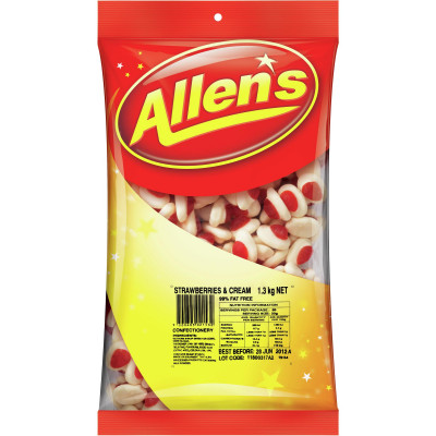 ALLEN'S CONFECTIONERY Strawberries & Cream 1.3kg